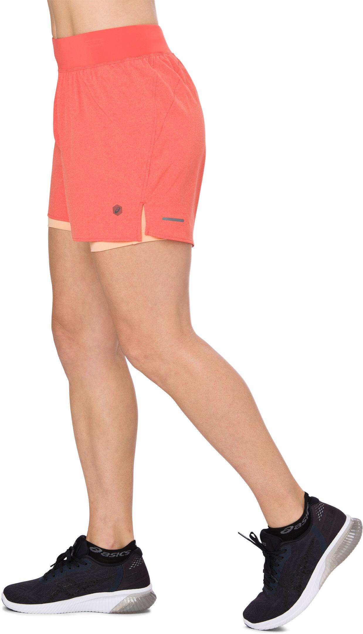 48a90805518 asics 2-N-1 5.5In Hardloop Shorts Dames oranje I Online op bikester.be